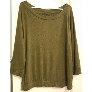 MIX by 41Hawthorne Olive Green Paulsen Knit Top